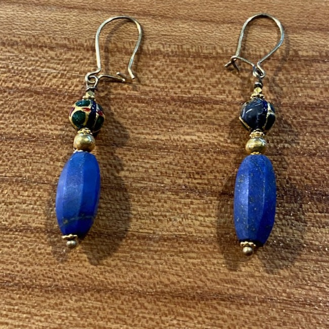 BOUCLES LAPIS OR