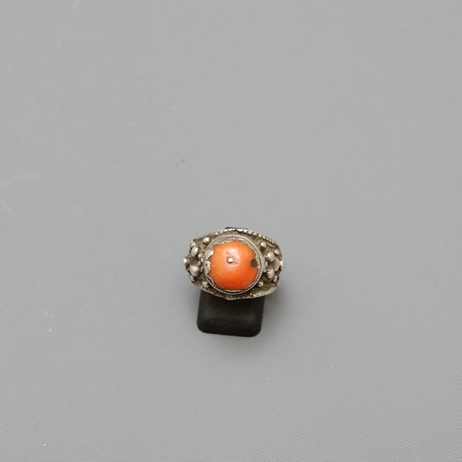 RING SILVER AND CORAL YEMEN