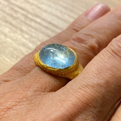 BAGUE OR AIGUE MARINE