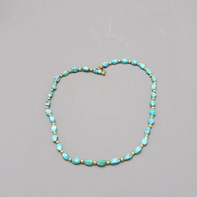 GOLD AND TURQUOISES NECKLACE