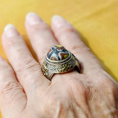 SILVER RING WITH PEARL OF VENICE