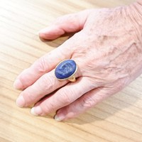 BAGUE LAPIS LAZULI OR + INTAILLE