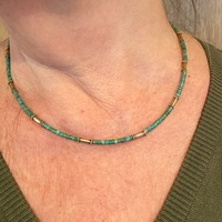 COLLIER TURQUOISE OR