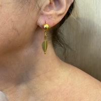 BOUCLE D'OREILLES OR PIPAL