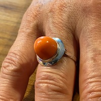 BAGUE OR BLANC CORAIL