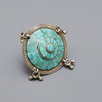 NEPALESE TURQUOISE SILVER RING