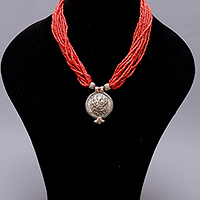 NECKLACE CORAL GANESH