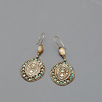 EARRINGS SILVER TURQ