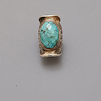 SADDLE RING TURQUOISE NEPAL