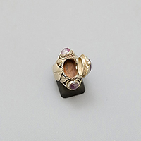 AMETHYST SILVER BOX RING